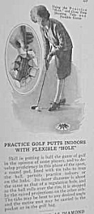 1926 GOLF PUTTING PRACTICE INDOORS Mag. Article (Image1)