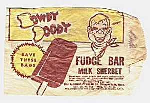 1950s HOWDY DOODY Fudge Bar Premium Bag (Image1)