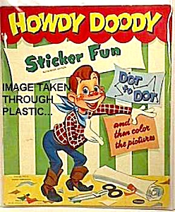 1953 HOWDY DOODY Sticker Book to Display (Image1)