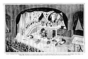 1926 CHICAGO THEATER W/WHEELED STAGES Mag. Article (Image1)