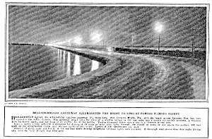 1923 BISCAYNE BAY, FL Causeway Opening Mag. Article (Image1)