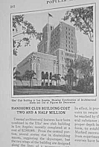 1927 L.A. CALIFORNIA Elks' Club Building Mag. Article (Image1)