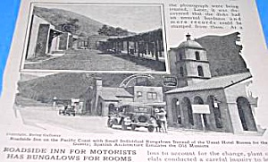 1926 1st? ROADSIDE INN - Bungalows Magazine Article (Image1)