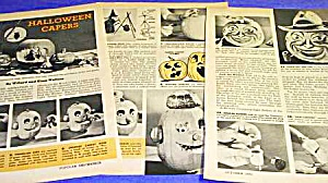 1962 Halloween PUMPKIN CARVING Magazine Articles (Image1)