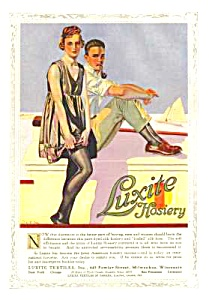 1918 C. Coles Phillips Illustr. Luxite Hosiery Mag Ad