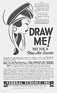1939 ART DECO Art School Mag. Ad L@@K! (Image1)