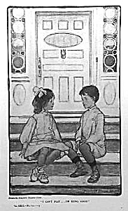 c.1900 ELIZABETH SHIPPEN GREEN Mag. Print: KIDS (Image1)