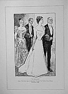 1899 Charles Dana GIBSON Debutante Print (Image1)