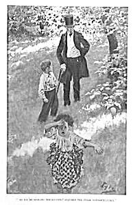 c.1900 HOWARD PYLE Mag. Print L@@K! CHILDREN! (Image1)