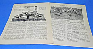 1927 ALASKAN INDIAN TOTEM POLES Mag Article (Image1)