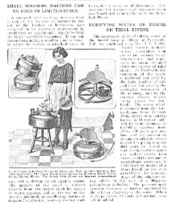 1921 SMALL WASHING MACHINE Mag. Article (Image1)