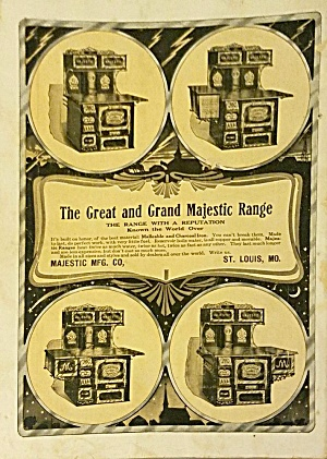 1910 Great And Grand Majestic Range Stove Magazine Ad