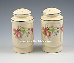 Rose Pattern Pottery SALT - PEPPER SHAKERS Range Set (Image1)