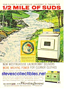 1960 WESTINGHOUSE Washer.- Dryer APPLIANCE Magazine Ad (Image1)