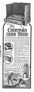1924 COLEMAN CAMP STOVE Magazine Ad (Image1)
