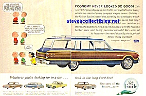 1962 FORDS Peanuts CHARLIE BROWN Magazine Ad (Image1)