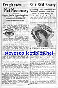 1914 Quack Cure Ad Page - Eyes-beauty