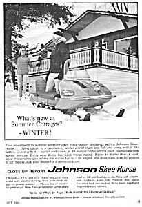 1966 JOHNSON SKEE-HORSE SNOWMOBILE Magazine Ad (Image1)