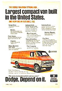 1972 DODGE MAXIVAN Truck Ad (Image1)