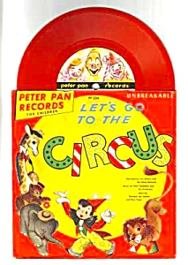 1949 Lets Go To The Circus Childs Record - Sleeve