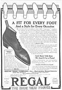 Great 1908 Button-Top REGAL SHOE Mag. Ad (Image1)