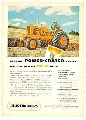 1953 Allis-chalmers Farm Tractor Magazine Ad