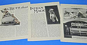 1927 Thurston: INDIAN MAGIC TRUTH Mag Article (Image1)