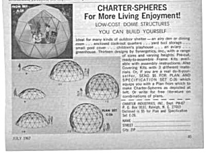 1967 DOME STRUCTURES Magazine Ad (Image1)