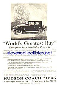 1925 HUDSON COACH Auto Magazine Ad (Image1)