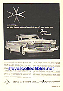1958 PLYMOUTH FURY Auto Ad (Image1)