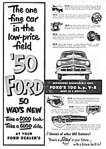 1950 FORD Automobile Magazine Ad (Image1)