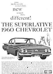1960 Chevy CHEVROLET BEL AIR Auto Ad (Image1)