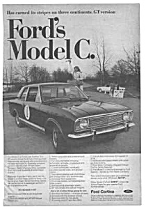 1967 FORD CORTINA GT Automobile Mag Ad (Image1)