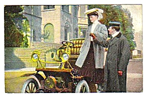 Early Automobile Color Postcard
