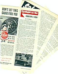 1960 AUSTIN 850 CAR Magazine Article (Image1)