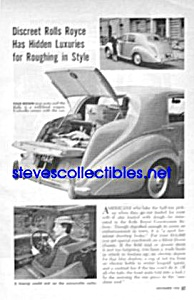 1954 ROLLS ROYCE COUNTRYMAN SALOON CAR Magazine Article (Image1)