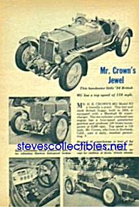 1934 BRITISH MG Magazine Article (Image1)
