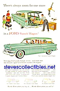 1954 FORD RANCH WAGONS Auto Magazine Ad (Image1)