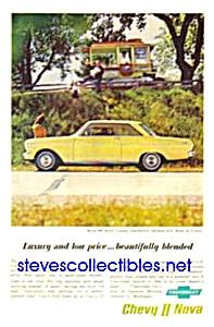 1962 Chevy CHEVROLET II NOVA 400 Coupe Auto Magazine Ad (Image1)