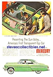 1954 Transparent-Top MERCURY Auto Magazine Ad (Image1)