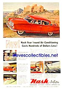1954 NASH AIRFLYTE Auto Magazine Ad (Image1)