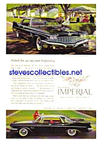 1960 CHRYSLER IMPERIAL Auto Magazine Ad - Shiny Black (Image1)