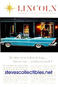1957 LINCOLN PREMIERE CONVERTIBLE Auto Ad (Image1)