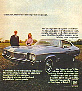 1968 BUICK SKYLARK Magazine Ad (Image1)
