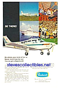1970 BEECHCRAFT Musketeer AIRCRAFT Aviation Ad (Image1)