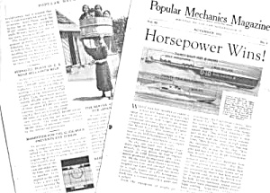 1933 SPEEDBOAT RACING Magazine Article (Image1)