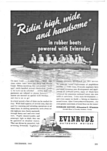 1943 WWII EVINRUDE BOAT MOTOR Mag. Ad - Military Theme (Image1)