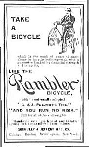 1894 RAMBLER BICYCLE Magazine Ad L@@K! (Image1)