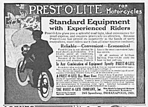 1915 PREST-O-LITE Motorcycle Lamp/Light Ad (Image1)