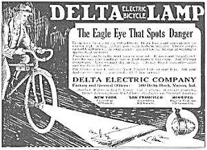 1924 DELTA Electric Bicycle Lamp - Light Ad (Image1)